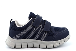 Dek Boys/Girls Touch Fastening Super Lightweight Jogger Trainers Navy/Grey