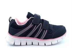 Dek Girls Touch Fastening Super Lightweight Jogger Trainers Navy/Pink