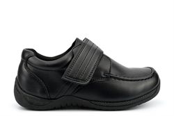 Chatterbox Boys Touch Fastening School Shoes With Scuff Resistant Upper And Memory Foam Insole