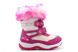 Mercury Girls Holly Touch Fastening Snow Boots Pink/Fuchsia