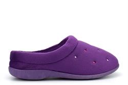 Sleepers Womens Charley Memory Foam Cuff Mule Slippers Purple