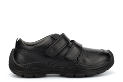 Roamers Boys Real Leather Super Lightweight School Shoes With Rubber Toe Guard