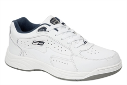 Dek Mens Wide Fit Leather Coated Extra Large Trainers Non Marking Sole White Sizes 13-14 (E Fitting)