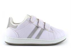 Mercury Girls Touch Fastening Trainers White/Silver