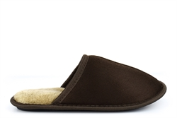 Mens Harry Lightweight Mule Slippers With Soft Insole Brown