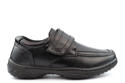 Scimitar Mens Lightweight Touch Fastening Casual Shoes With Textile Lining Black