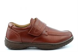 Scimitar Mens Lightweight Touch Fastening Casual Shoes With Textile Lining Tan