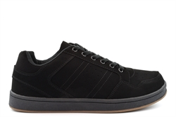 Dek Mens Quark Skate Shoes With Padded Collar And Tongue Black