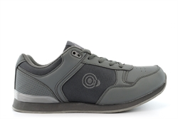 Dek Womens/Mens Jack Trainer Style Lace Up Bowling Shoes Grey