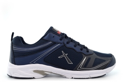 Dek Mens Jensen Super Lightweight Memory Foam Lace Trainers With Extra Large Sizes Navy