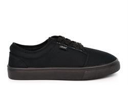 Dek Boys/Girls Lace Up Canvas Shoes All Black