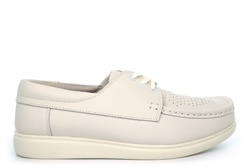 Dek Mens/Womens Crown Leather Bowling Shoes With Cushioned Insole White