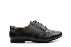 Shoes By Lou Lou Girls Cola Brogue School Shoes Black