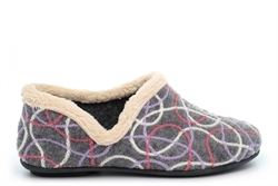 Sleepers Womens Karen Knitted Slip On Slippers With Ergonomic Padded Insole Grey